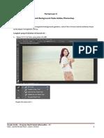 Pratikum 5 Mengubah Background Photoshop