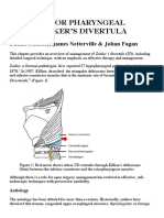 Surgery for Pharyngeal Pouch or Zekers Divertula