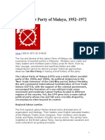 The Labour Party of Malaya 1952 - 1972