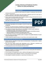 OECD Paper on the Recruitment of Teachers