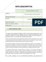 CARTA DESCRIPTIVA - PLANEACIÓN EDUCATIVA EN EL AULA..doc