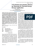 Characteristic of Erythritol and Alumina Mixture as Phase Change Materials for Thermal Energy Storage Application