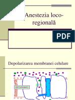 anestezie regională