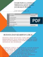Budaya Sasi Dari Papua Langkah Mengatasi Permasalahan Sosio-ekonomi
