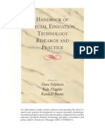 Handbook of Special Edu Tech Research and Practice