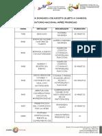 Cronograma Conversatorio Nacional Niñez Prioridad 06082017