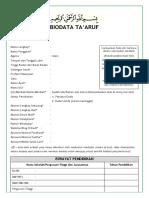 Template Biodata