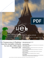 L'Habiter Dans Les Mondes Virtuels_ Les Villes de Second Life