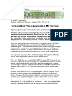 Heirloom Rice Project Launched Mt