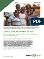 OXFAM-InTERMON - Enero '17 - Una-economia Para El 99% Resumen