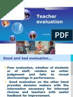 Evaluation and Testing Teacher Evaluation
