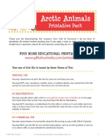 Arctic Animals Printables Pack