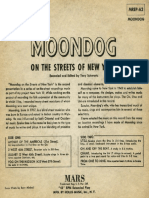 Moondog on the Streets of New York (Cover Back)