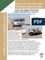 Underground Mining Personnel Carries