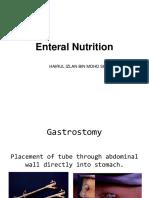 enteral nutrition(gastrojejunotomy)