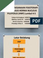 Penatalaksanaan Fisioterapi Pada Kasus Hernia Nucleus Pulposus