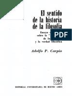 Carpio Adolfo - El Sentido de La Historia de La Filosofia