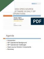 Open Source ISP Operations