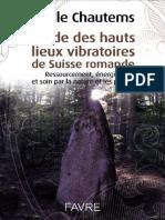 Chautems Joelle - Guide Des Hauts Lieux Vibratoir