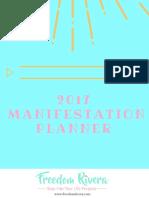 2017 Manifestation planner