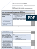 Student Services Rubric