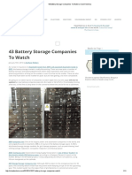 43 Battery Storage Companies to Watch _ CleanTechnica