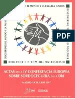 Actas IV Jornadas Europa