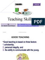Teaching Skills by Dr. Shadia Yousef Banjar