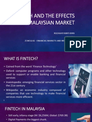 FINTECH AND THE EFFECTS TO MALAYSIAN MARKET pdf
