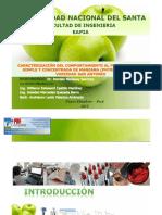 Carcterizacion Del Comportamiento l Flujo de Pulpa de Manzana