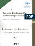 Proyecto de Intervención para prevenir el embarazo en BCS