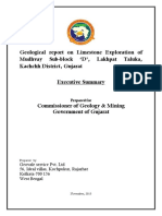 Gujarat Geological Report of Mudhvay Limestone Deposit Sub-block D - Executive Summary.pdf