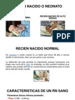 1 Recien Nacido o Neonato