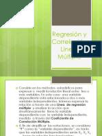 Regresión y Correlación Lineal Múltiple