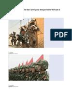 Inilah Pasukan Militer Dari 20 Negara Dengan Militer Terkuat Di Dunia
