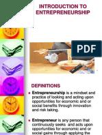 Entrepreneurship Training 1st Seminar