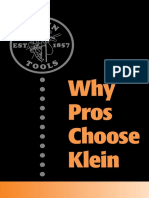WhyProsChooseKlein Brochure