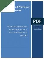 Pdc 2011-2021 Provincia de Ascope