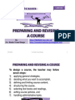 Preparing and Revising a Course, By Dr. Shadia Yousef Banjar