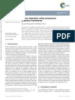 Alkane Separation Using Nanoporous Using Gromacs