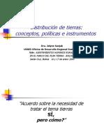 Distribucion Bolivia