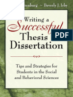 Writing a Successful Thesis or Dissertation, Fred C. Lunenburg & Beverly J. Irby