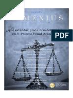 ¿Qué Estándar Probatorio Debe Exigirse en El Proceso Penal Acusatorio-. Revista INMEXIUS, No. 7, JULIO 2017.