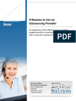 WhitePaper-Bank Call Center Outsourcing 8 Reasons