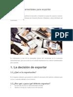 Criterios Fundamentales Para Exportar