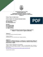 Cronograma de Lecturas de Clases Teóricas y Trabajos Prácticos 2º Cuatrimestre 2017