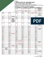 Academic Calendar Btech Barch i Year
