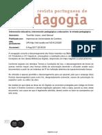 29 - Intevencion Educativa, Intervencion Pedagogica y Educacion- La Mirada Pedagogica
