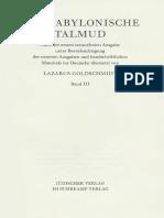 Der Babylonische Talmud Band 3