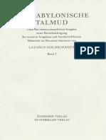 Der Babylonische Talmud Band 1
